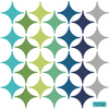 28 Modern Diamond Wall Decals in Turquoise, Green, Navy and Gray - Wall Dressed Up - 2