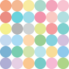 36 Sorbet Colored Confetti Polka Dot Wall Decals - Wall Dressed Up