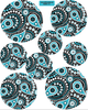 Turquoise, Black and White Paisley Dot Wall Decals - Wall Dressed Up - 2