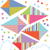 Multicolor Kite Wall Decals with Clouds, Reusable Eco-Friendly Wall Stickers - Wall Dressed Up