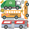 School Bus, City Bus, Taxi & Recycling Truck Wall Decals - Wall Dressed Up - 2