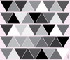 45 Mod Triangle Wall Decals in Gray, Black and White, Eco-Friendly Repositionable Decals - Wall Dressed Up