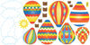 Hot Air Balloons & Clouds in Primary Colors Wall Decals - Wall Dressed Up - 2
