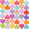 36 Sweet Confetti Patterned and Solid Heart Wall Decals - Wall Dressed Up - 2