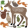 Large Woodland Animals with Tree Wall Decals - Wall Dressed Up - 2