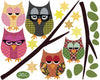 Five Owls on Branch Wall Decals - Wall Dressed Up - 4