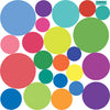 23 Multi-sized Rainbow Colors Polka Dot Decals - Wall Dressed Up - 2