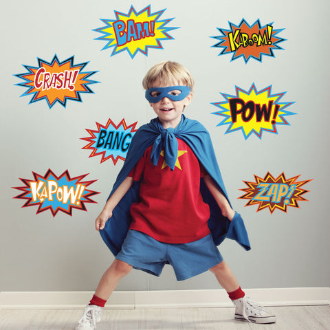 Superhero Comic Wall Decals - Wall Dressed Up