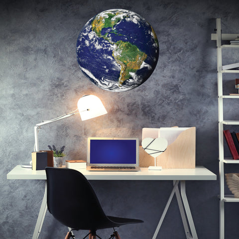 "24"" Earth from Space Wall Decal, Fabric Peel & Stick Matte Poster Decal - Wall Dressed Up - 1"