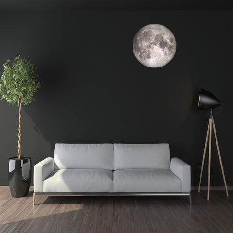 "24"" Moon in Space Wall Decal, Fabric Repositionable Matte Poster Decal - Wall Dressed Up"