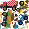 Multicolor Construction Site Decals plus 4 Construction Truck Wall Decals with Road Wall Stickers - Wall Dressed Up