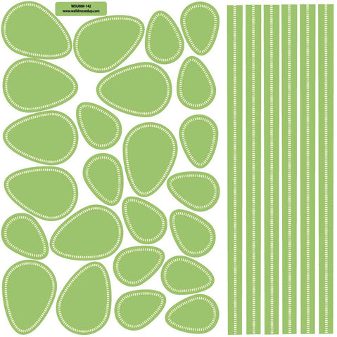 Leaves and Stems Fabric Wall Decals, Eco-Friendly Reusable Wall Stickers - Wall Dressed Up