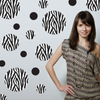 Black and White Zebra Print Wall Decals
