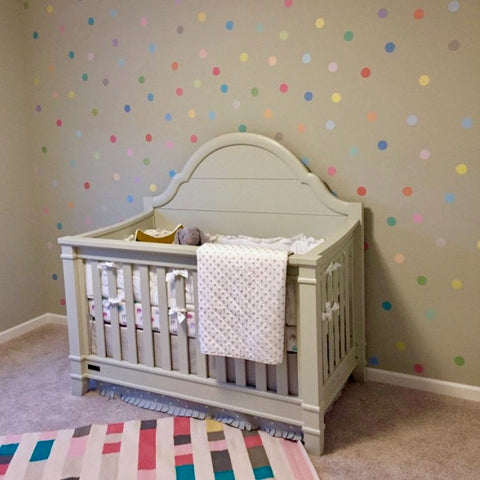 wall decals 121 mini 2 inch pastel confetti polka dot fabric decals
