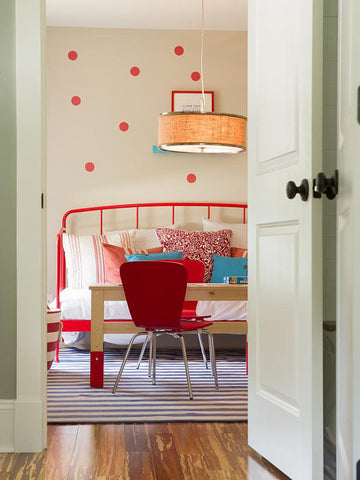 64 Red Polka Dot Wall Decals - Wall Dressed Up