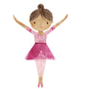 Five Large Dancing Ballerina Fabric Wall Decals, Removable and Reusable Eco-friendly Wall Stickers - Wall Dressed Up