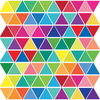 96 Mini Rainbow Triangle Wall Decals, Eco-Friendly Fabric Wall Stickers - Wall Dressed Up