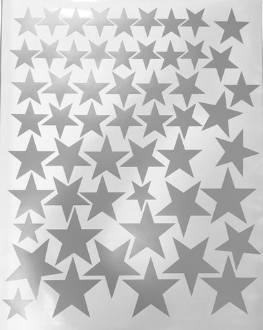 55 Metallic Gold Five - Point Star Vinyl Wall Decals (Multi sized) - Wall Dressed Up - 4