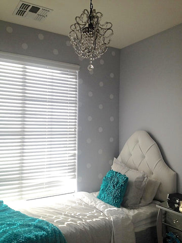 64 White Polka Dot Wall Decals Eco Friendly Fabric Decals