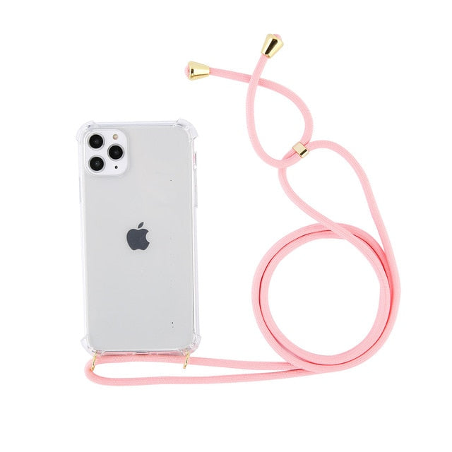 Phone Case Body Strap - Pink