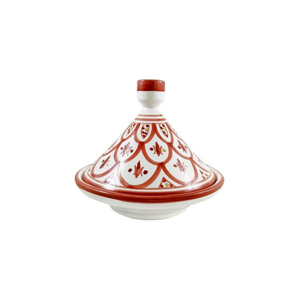TAJINE BORDEAUX EN CERAMIQUE GOLD 12 K