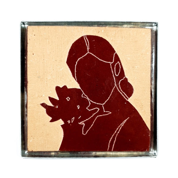 "ZEL'ART : CARREAUX DE ZELLIGE CISELES "" ROSY ROUGE BRIQUE "" (4540903686186)"