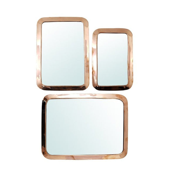MIROIR FARAH RECTANGLE MAILLECHORT