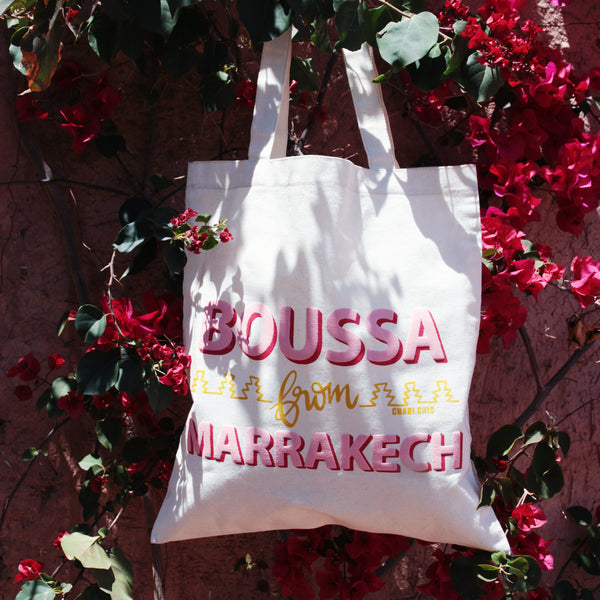 TOTE BAG BOUSSA FROM MARRAKECH