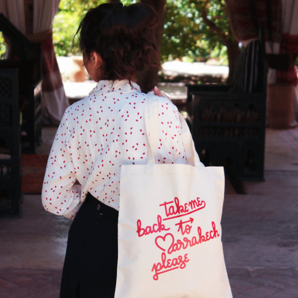 TOTE BAG TAKE ME BACK TO MARRAKECH