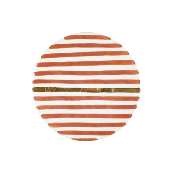 ASSIETTE STRIEE GOLD TERRACOTTA Pre ORDER