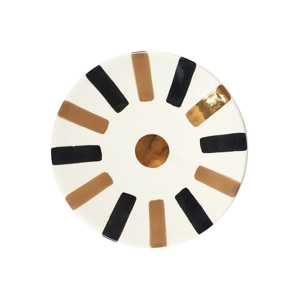 ASSIETTES OURIKA GOLD SABLE NOIR (4621519290410)
