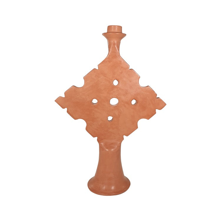 BOUGEOIR TADELAKT TRIANGLE TERRACOTTA