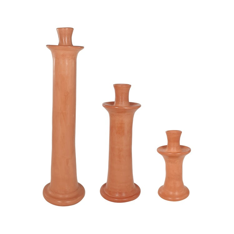 BOUGEOIR TADELAKT HAUT TERRACOTTA (4120296488983)