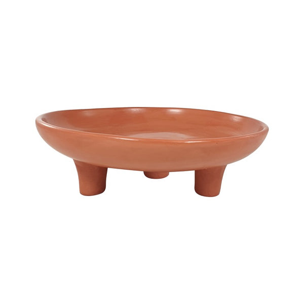 COUPE FRUIT TREPIED TADELAKT TERRACOTTA