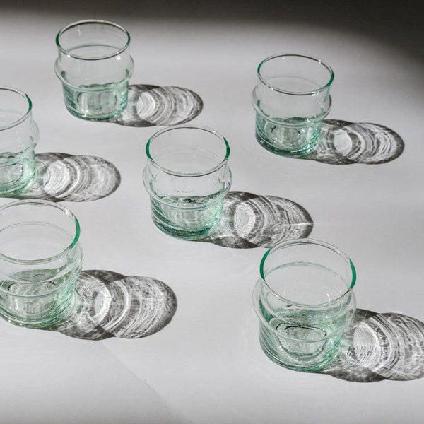 6 MINI TASSES BELDI EN VERRE RECYCLE