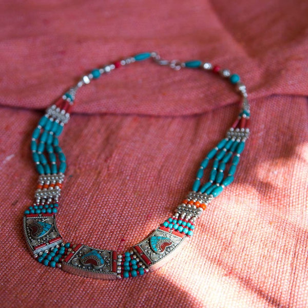 LONG COLLIER BERBERE TURQUOISE