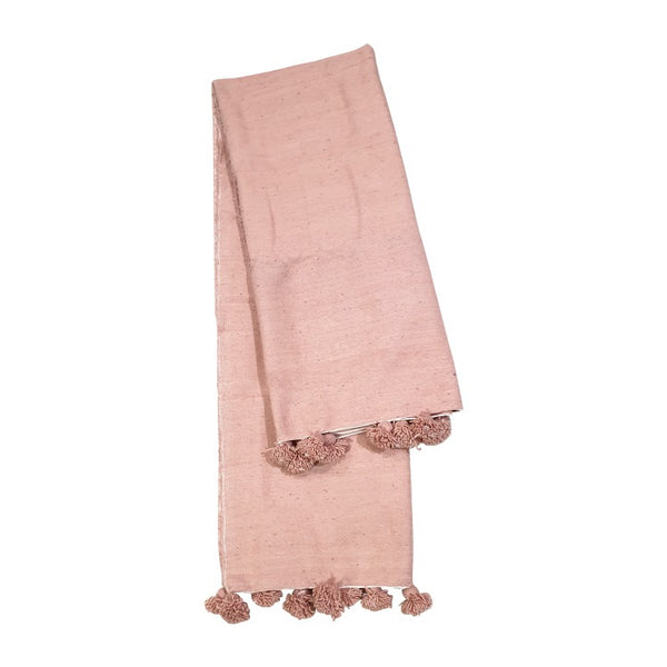 COUVERTURE ROSE EN LAINE  100% (4647830683690)