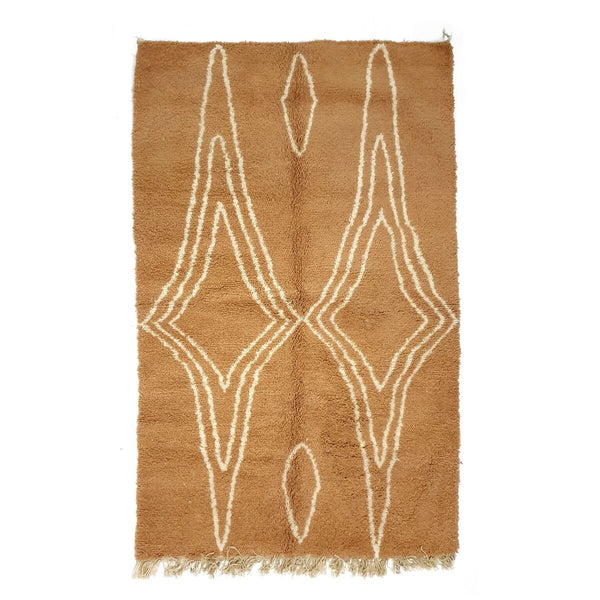 TAPIS BENI OURAIN TRIANGLE BEIGE FOND SABLE 250x150 CM (4366403567658)