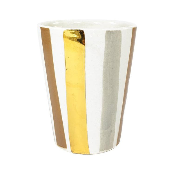 VERRE OURIKA GOLD GRIS TERRACOTTA
