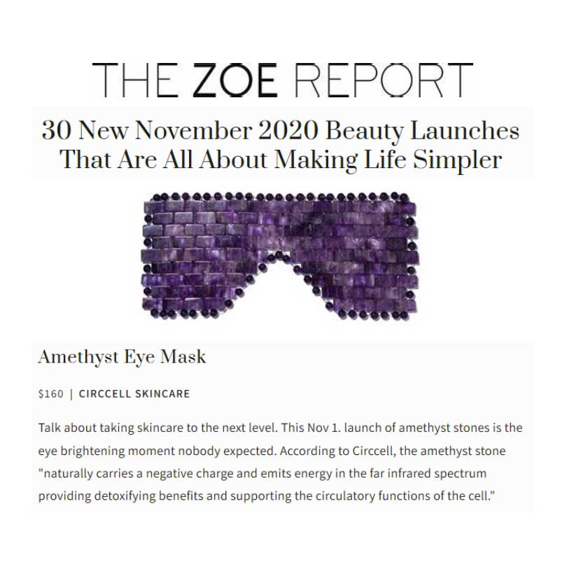 The Zoe Report CircCell Amethyst Eye Mask