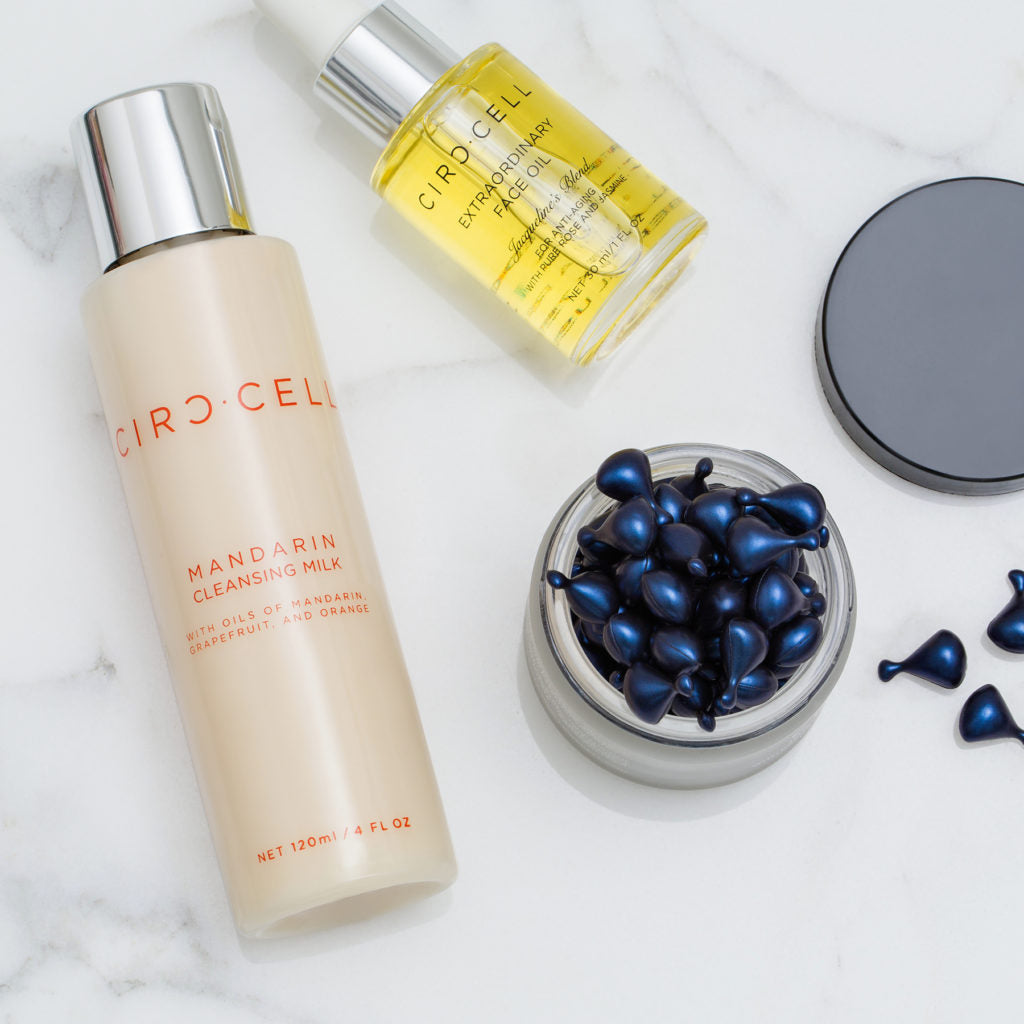 Mandarin Cleanser, VitC Ampules and Antiageing Oil.