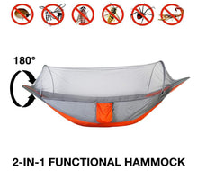 Load image into Gallery viewer, Say no to bugs and mosquitoes and have a peaceful rest in this hammock!