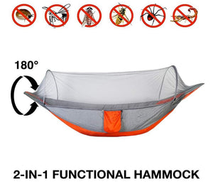 Say no to bugs and mosquitoes and have a peaceful rest in this hammock!