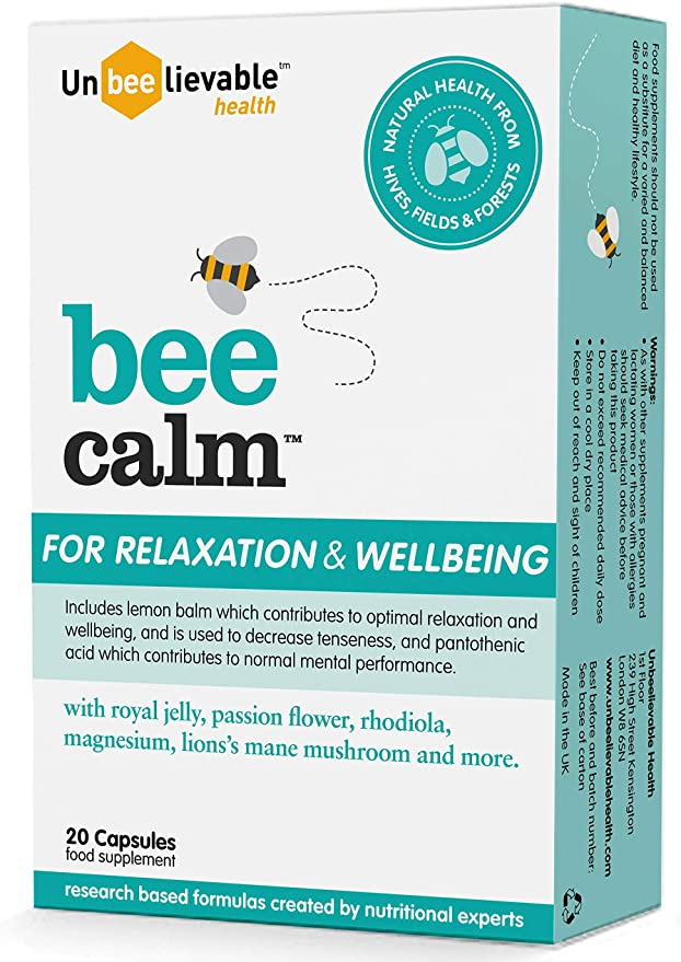 Bee Calm Relaxation and Wellbeing 20 Caps