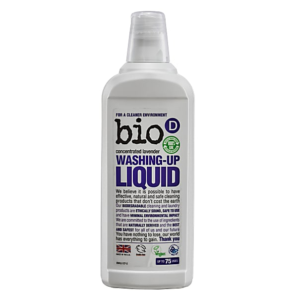Bio-D Washing Up Liquid 750ml Concentrated Lavender
