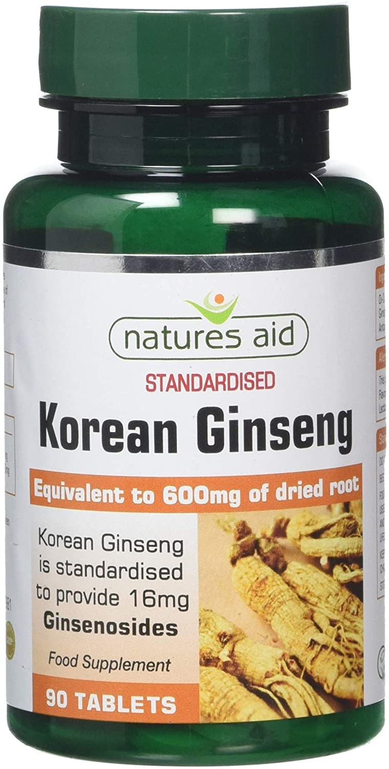 Natures Aid Korean Ginseng 90 Tabs