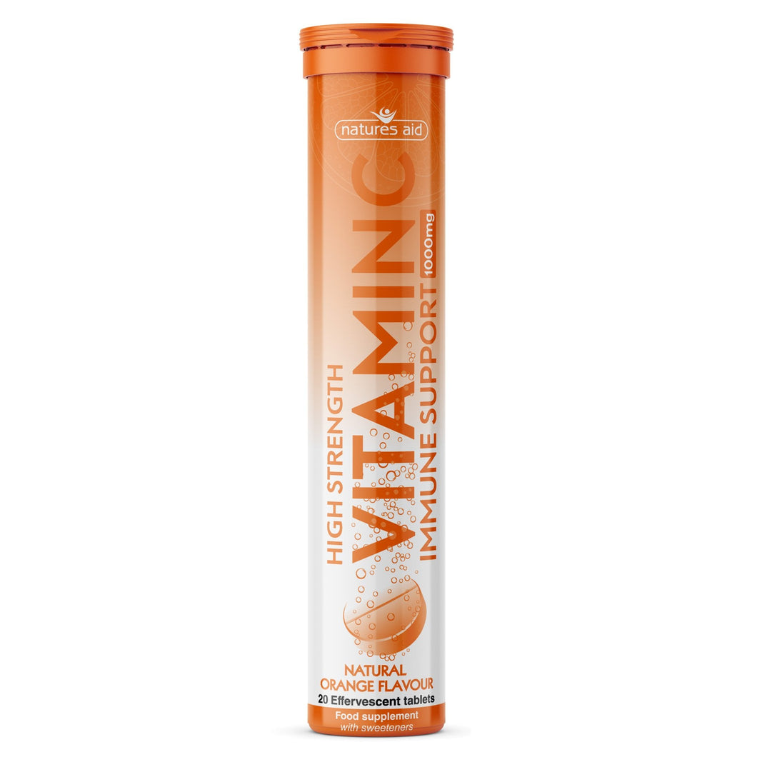 Natures Aid Vitamin C Immune Support 1000mg Orange