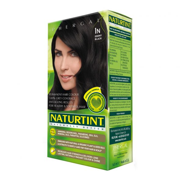 NaturTint Hair Dye - Ebony Black (1N)