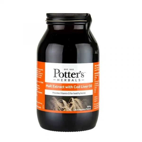 Potters Malt Extract Butterscotch 650g