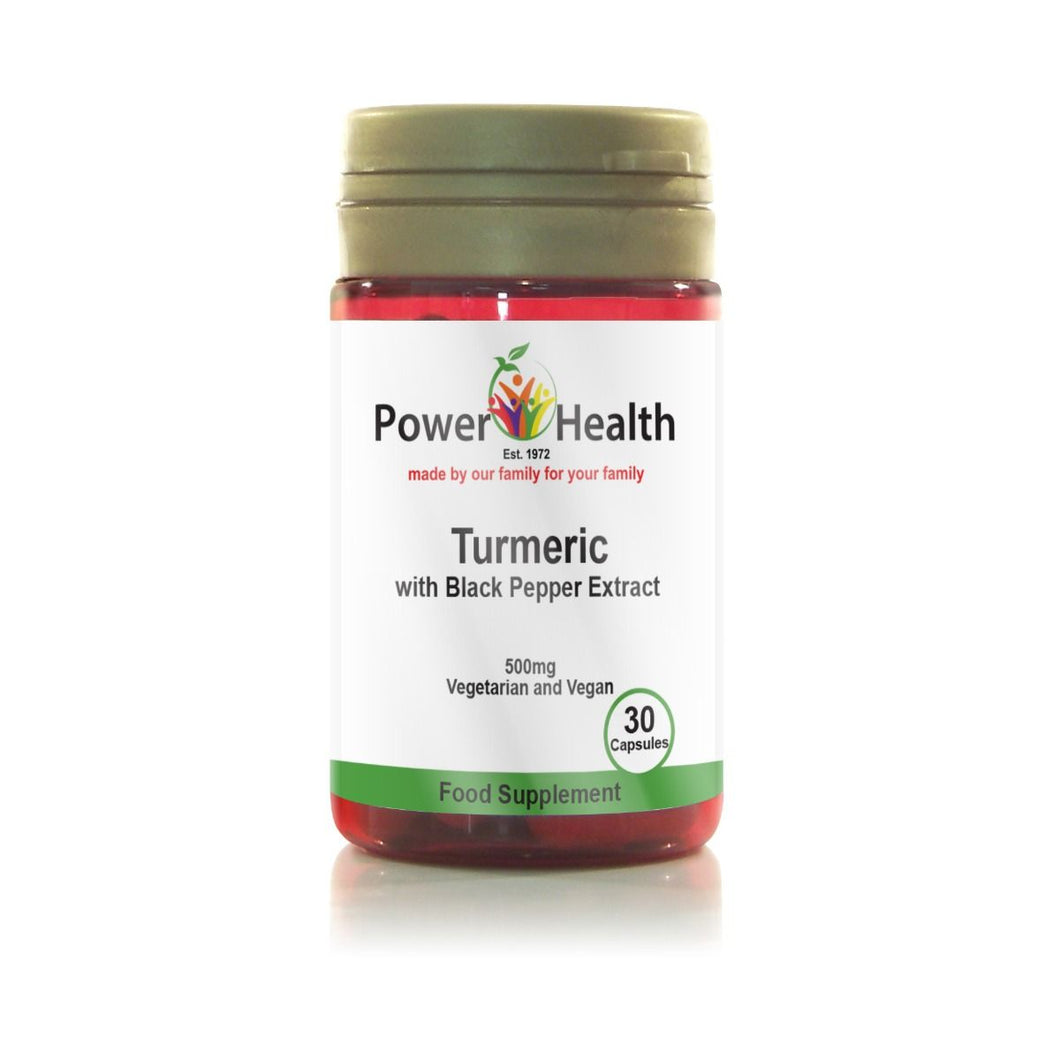 Power Health Turmeric 500mg with black pepper 30 Caps